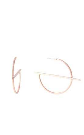 Oversized Hoop Earrings Rose Gold by DOSE of ROSE