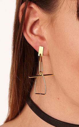 Sculptural Gold Earrings by DOSE of ROSE