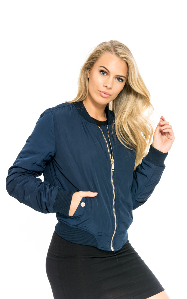 Navy Bomber MA1 Puff Jacket by Npire London