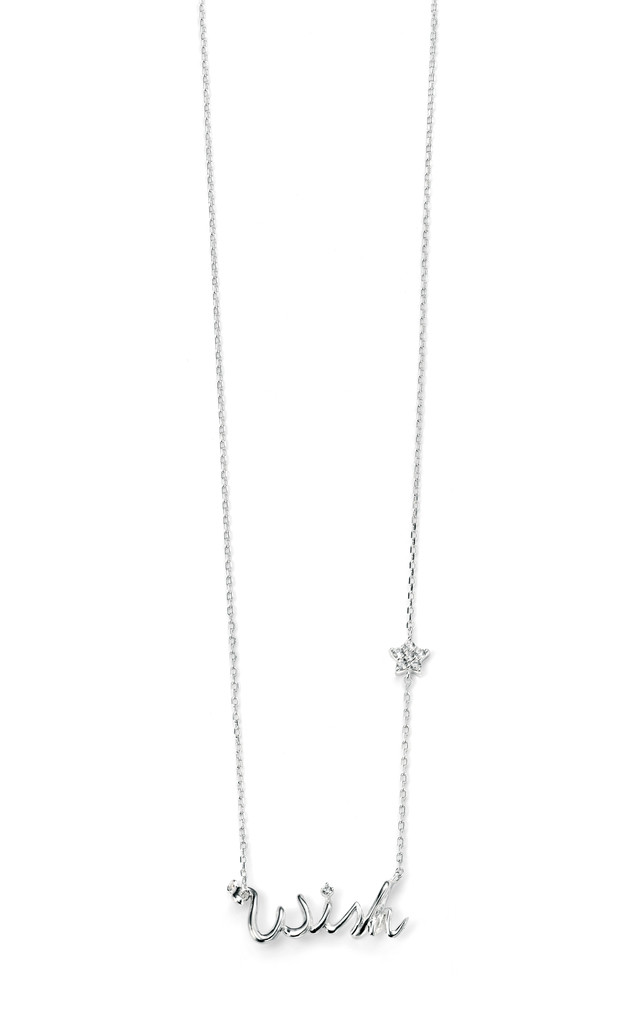 "Clear CZ ""Wish"" Sterling Silver Necklace by VAVOO"