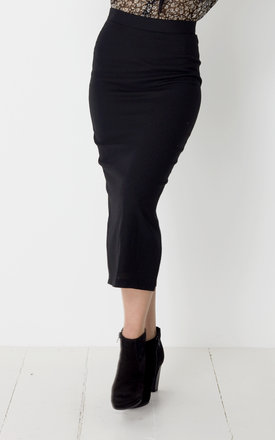 Black Midi Pencil Skirt by No Ordinary Suit