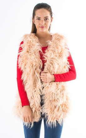 Faux Fur Gilet - Nude by Npire London