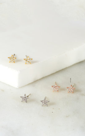 Tiny Star Studs Gold by DOSE of ROSE Product photo