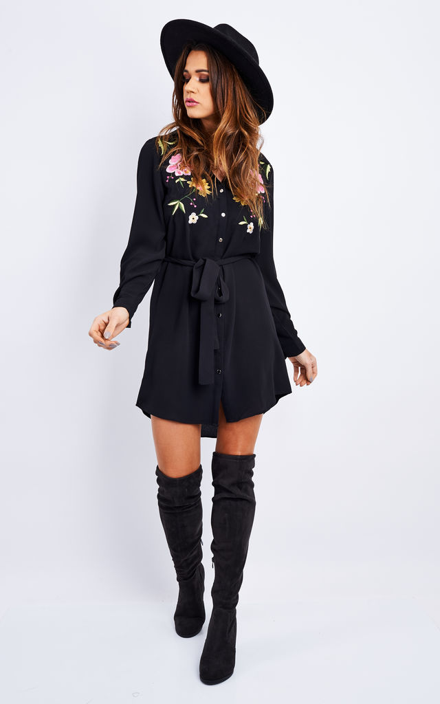 EMBROIDERY SHIRT DRESS by Lilah Rose EMBROIDERY SHIRT DRESS by Lilah Rose  ...