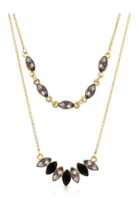 Grey Double Layer Necklace by Johnny Loves Rosie