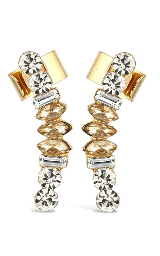 Clear Jewel Ear Climbers by Johnny Loves Rosie