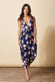 Genie Jumpsuit in Navy Rose by Dancing Leopard