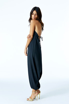 Genie Jumpsuit in Black by Dancing Leopard