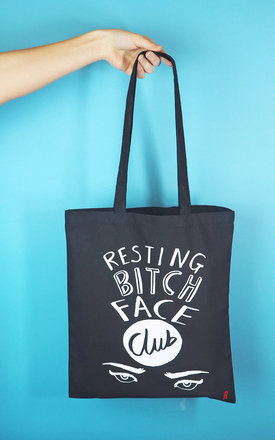 'Resting Bitch Face Club' Tote Bag by Rock On Ruby