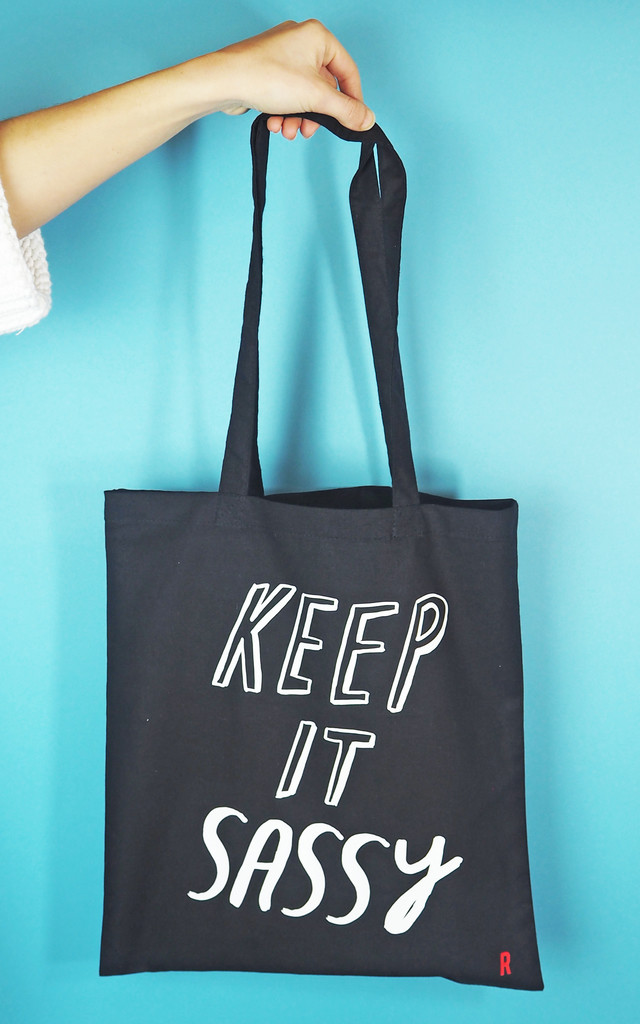 'Keep It Sassy' Tote Bag by Rock On Ruby