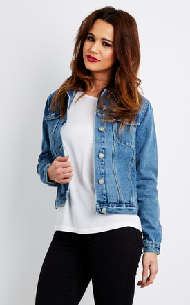 Blue Denim Jacket with Painted Detail by Glamorous