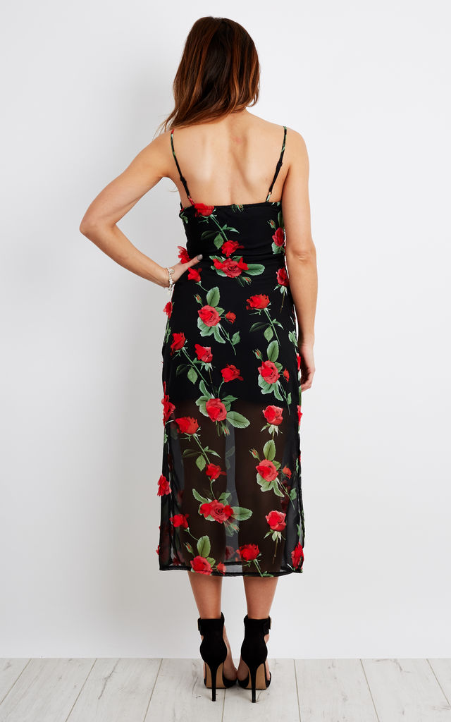 3D Rose Floral Maxi Dress by Lilah Rose