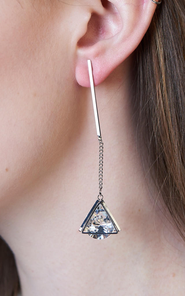 Modern Crystal Cage Earrings by DOSE of ROSE