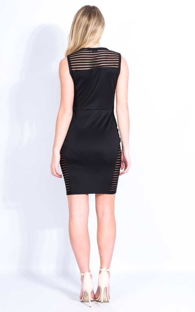Black Bodycon Sleeveless Dress by Npire London