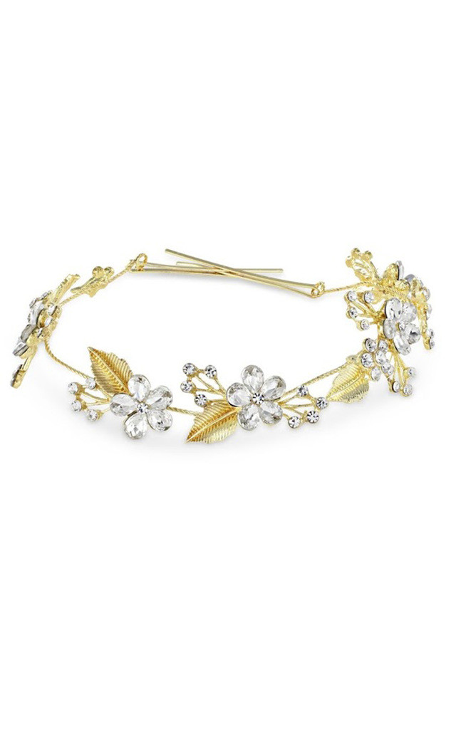 Bridal Gold Floral Hair Vine by Johnny Loves Rosie