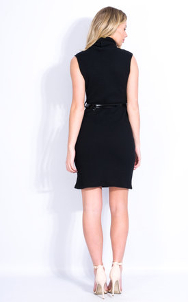 High Neck Ribbed Bodycon - Black by Npire London