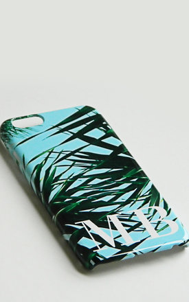 Tropical print monogram phone case by Rianna Phillips