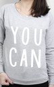 You Can Scoop Neck Sweater by Letter Clothing Company