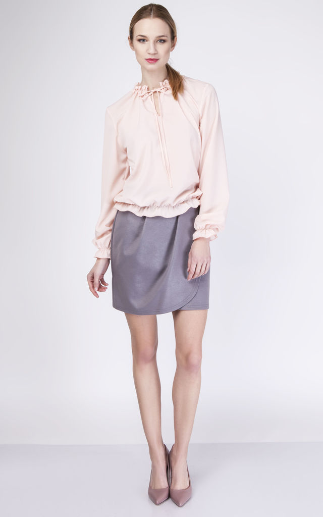 Pink Tie Neck Blouse 21