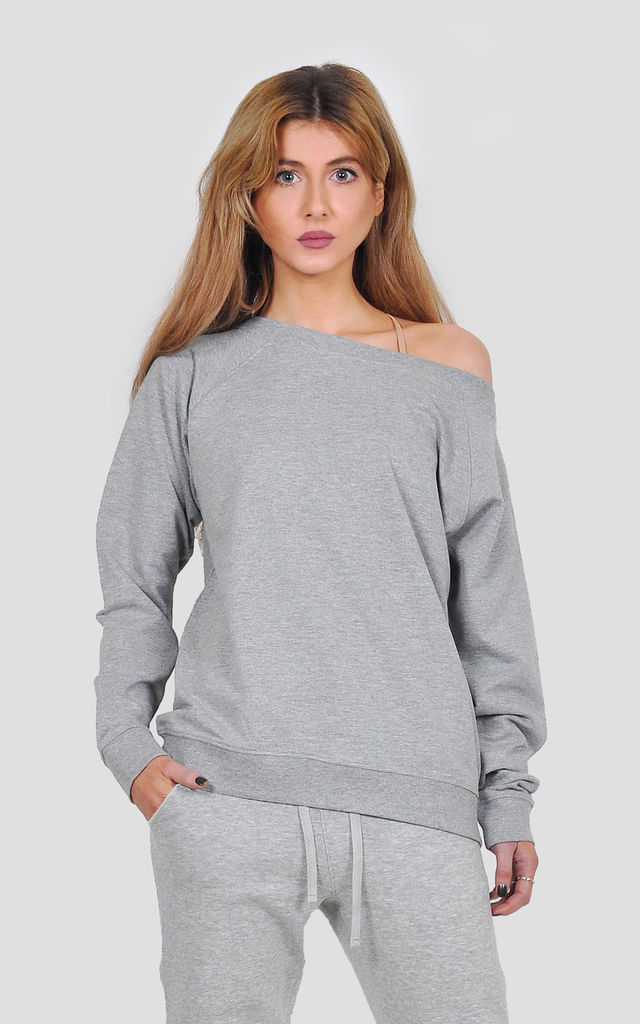 Off shoulder Athleisure top by The Left Bank