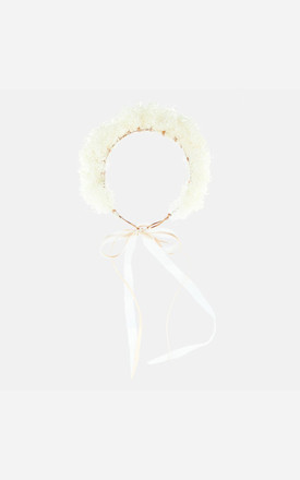 HONEY Dried Gypsophila Flower Crown by Rock N Rose