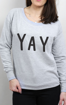 Yay Scoop Neck Sweater by Letter Clothing Company Product photo