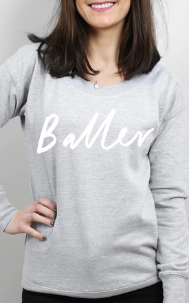 Baller Scoop Neck Sweater by Letter Clothing Company Product photo