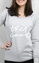 Très Cool Scoop Neck Sweater by Letter Clothing Company