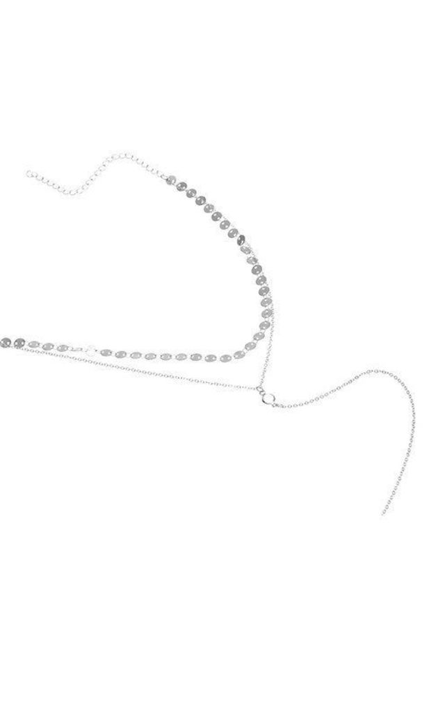 Double Layer Silver Choker by HAUS OF DECK