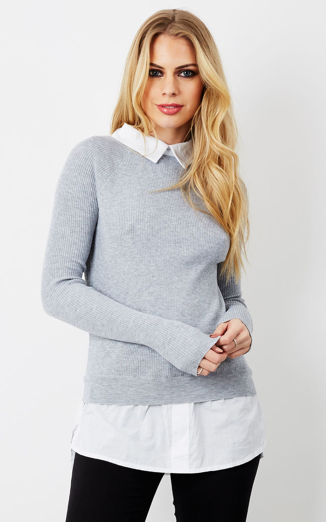 Grey Shirt Jumper by Bella and Blue