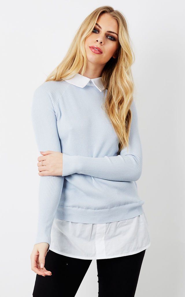 Baby Blue Shirt Jumper by Bella and Blue