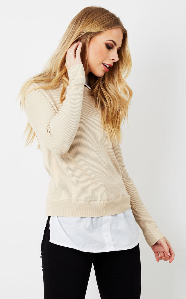 Beige Shirt Jumper by Bella and Blue