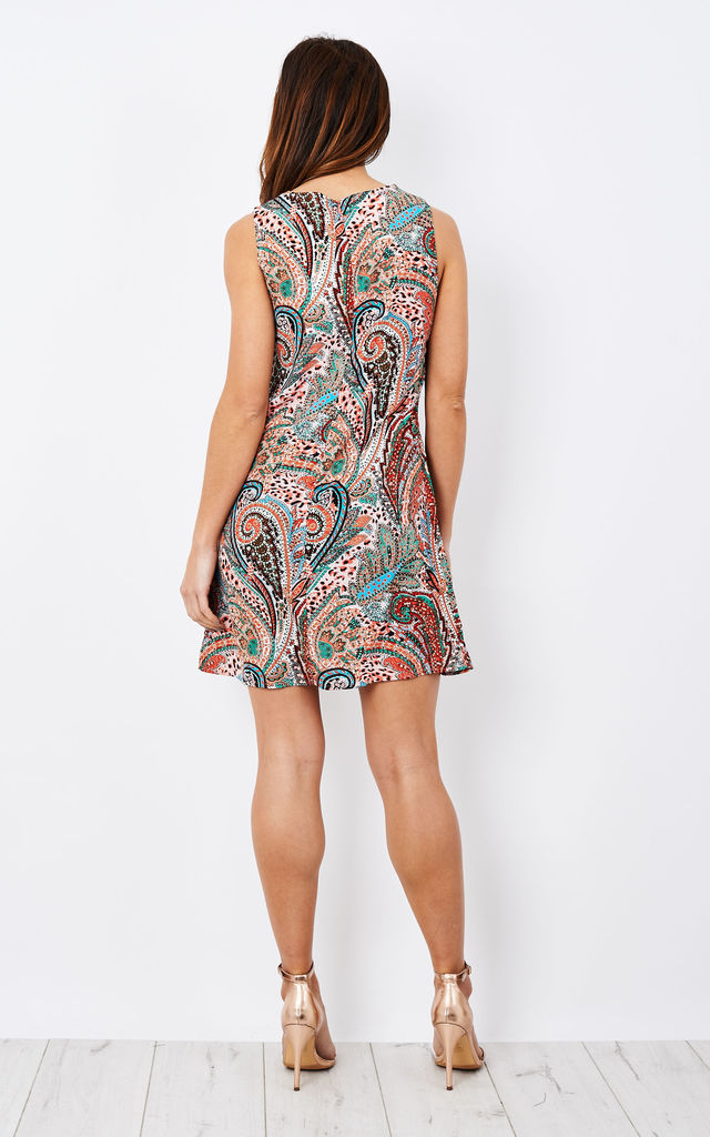 Orange And Green Paisley Print Tunic Dress by Glamorous