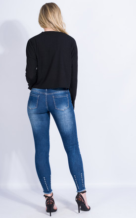 Knee Cut Premium Denim Jeans by Npire London