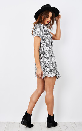 Printed leopard print wrap dress by Narlaka