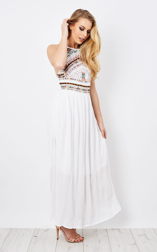 Embellished Halterneck Maxi Dress by Glamorous