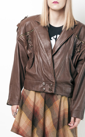 80s vintage real leather biker jacket by Pop Sick Vintage