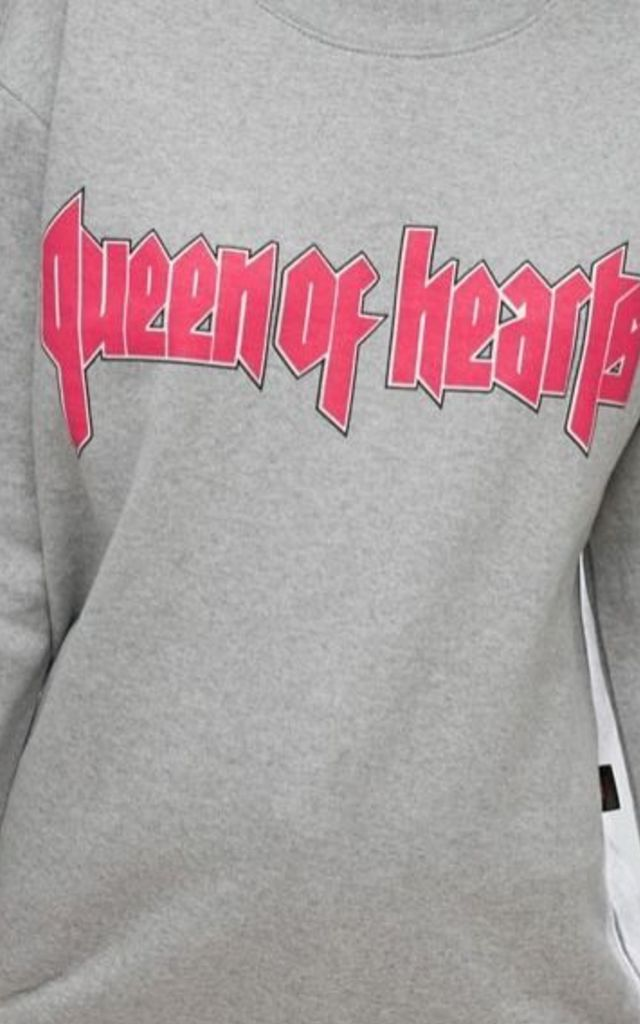 Queen Of Hearts Jumper by Adolescent Clothing