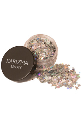 Silver Holographic Chunky Glitter by Karizma