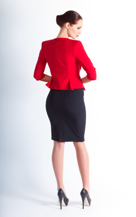 Ageta jacket in red by JEVA FASHION
