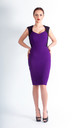 Purple Arina Pencil Dress with Sweetheart Neckline by JEVA FASHION