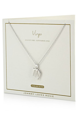 Sterling Silver Zodiac Virgo Necklace by Johnny Loves Rosie