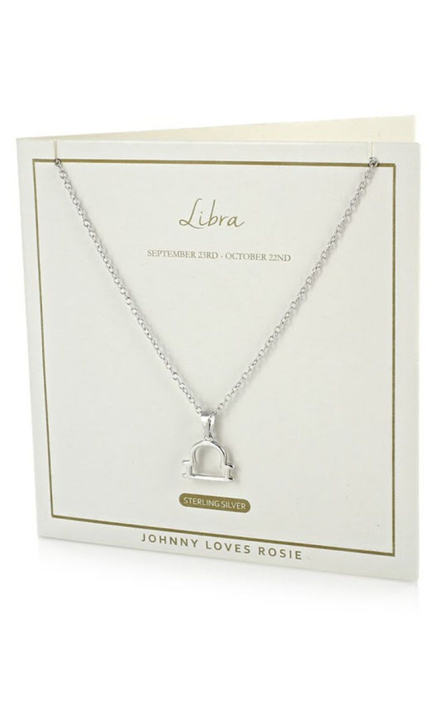 Sterling Silver Zodiac Libra Necklace by Johnny Loves Rosie