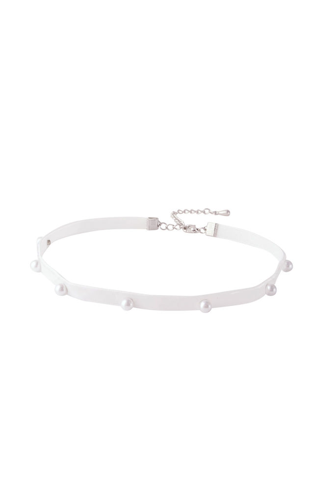Pearl Dot Choker White by DOSE of ROSE