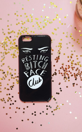 Resting Bitch Face Club Phone Case by Rock On Ruby