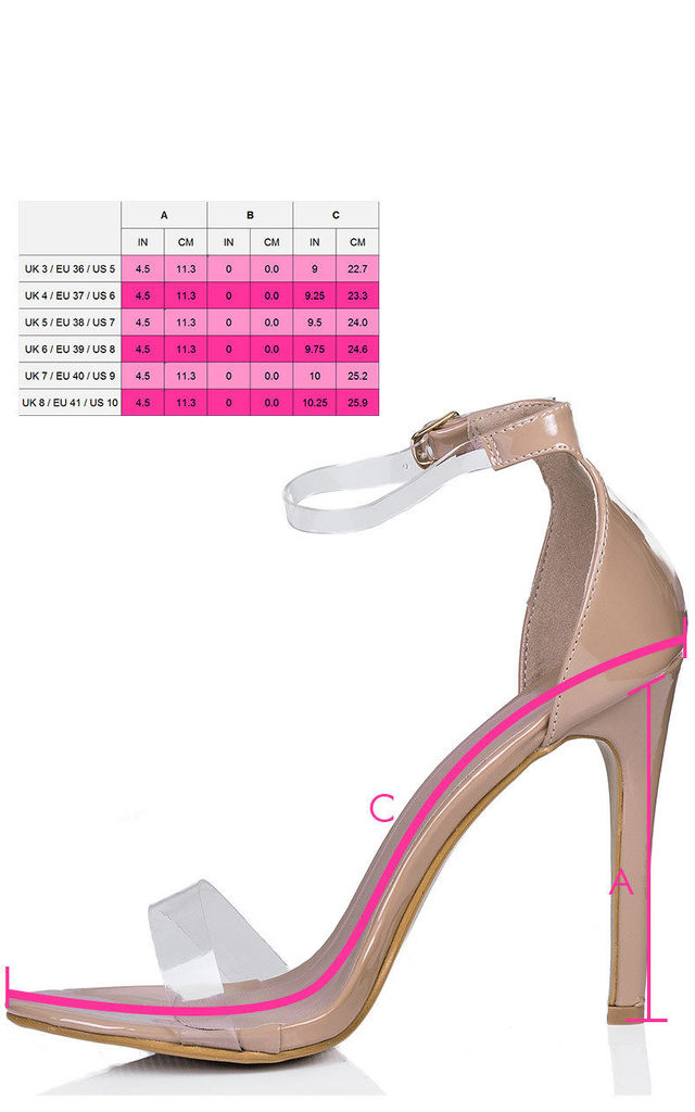 MISRI Barely There High Heel Stiletto Sandals Shoes - Beige Patent by SpyLoveBuy