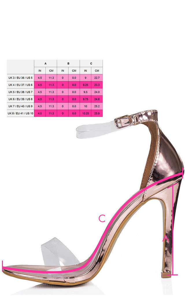 MISRI Open Peep Toe Barely There High Heel Stiletto Sandals Shoes - Gold Chrome Patent by SpyLoveBuy