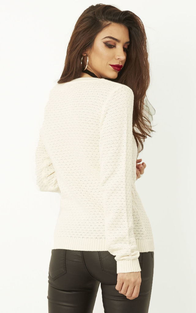 White Knitted Jumper by VILA