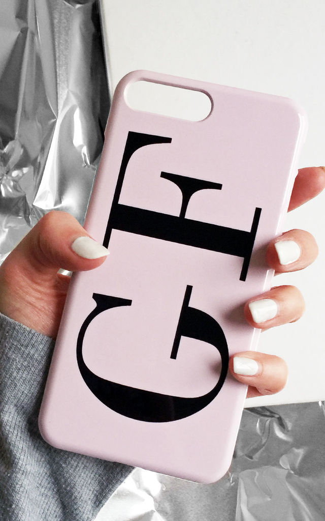 Dusty pink monogram phone case - Large initials by Rianna Phillips