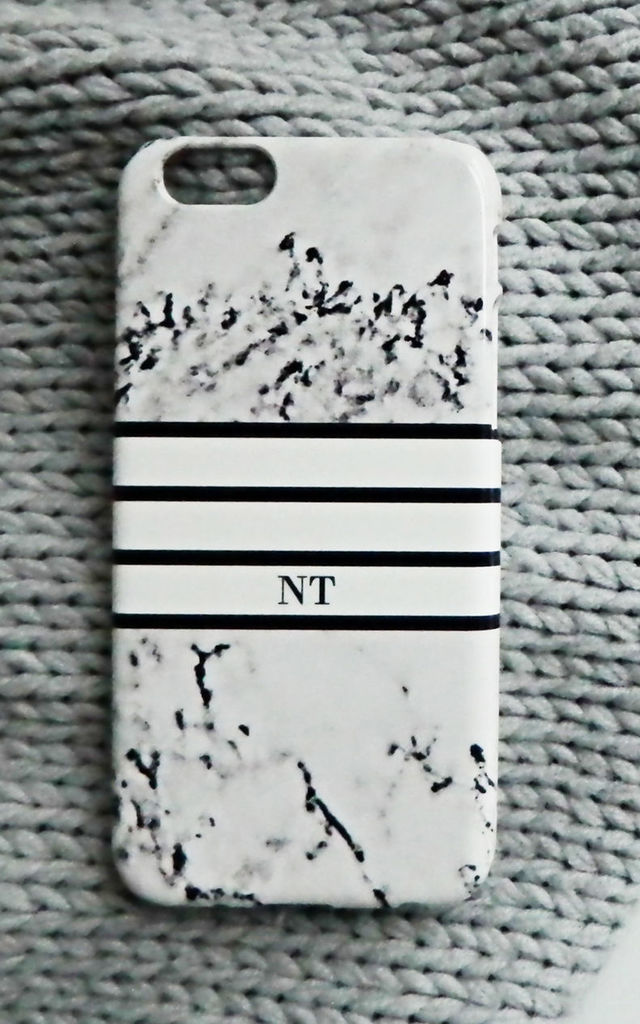 Marble monogram phone case - Sports Luxe by Rianna Phillips